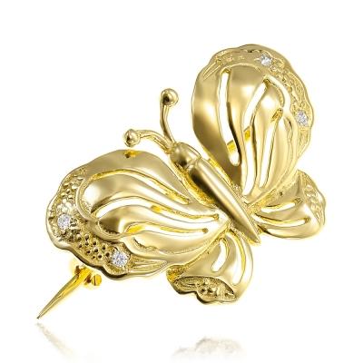 Brosa din aur fluturas
