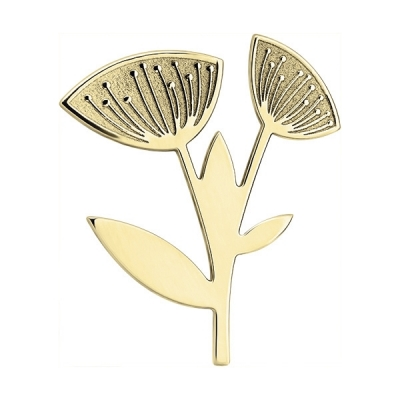 Brosa din aur cu flori