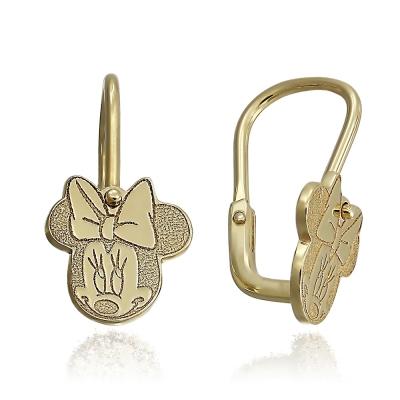 Cercei aur Minnie Mouse