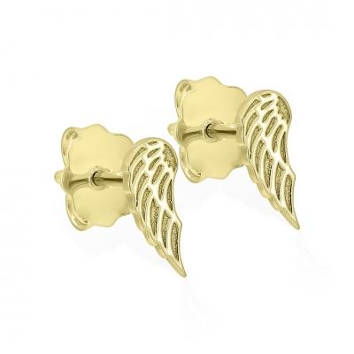 Cercei aripi de inger din aur