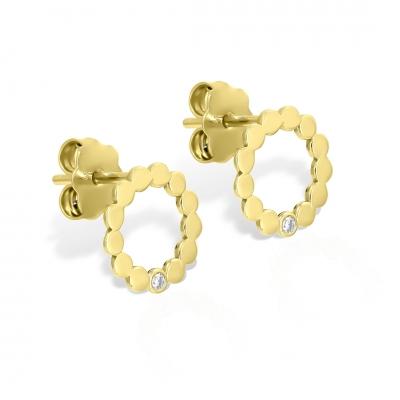 Cercei aur cercuri cu diamante