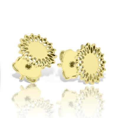 Cercei aur floarea soarelui