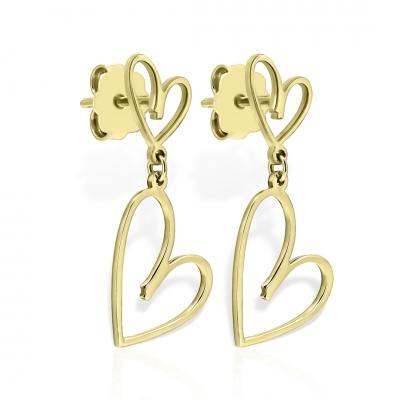 Cercei aur inimi împreună