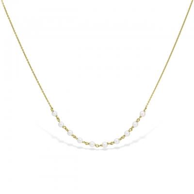 Colier aur perle de cultura 3 mm