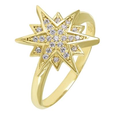 Inel aur Lucky Star cu pietre zirconia