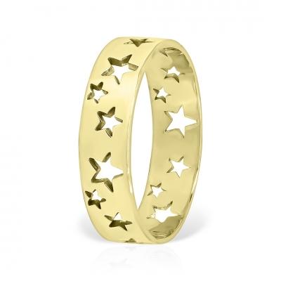 Inel stelar din aur