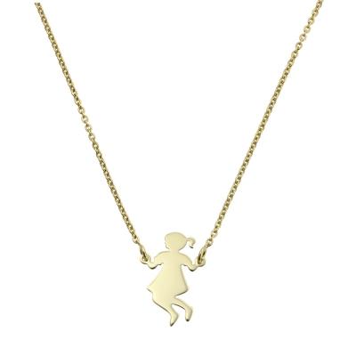 Colier aur cu pandantiv fetita in leagan