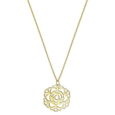Colier aur cu pandantiv trandafir