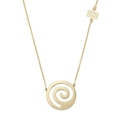 Colier aur Spirala Vietii & Nod Mistic