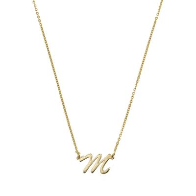 Colier aur cu initiala