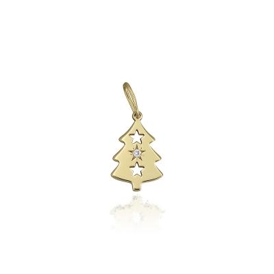Pandantiv aur bradut cu diamant