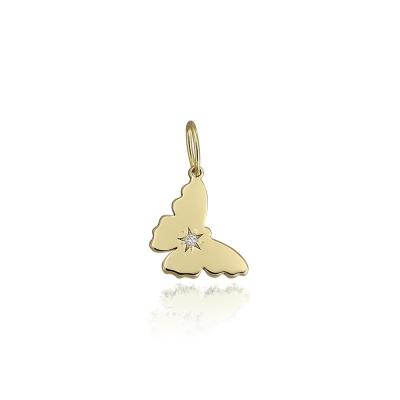 Pandantiv din aur fluture cu diamant