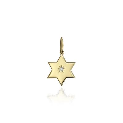 Pandantiv din aur steluta cu diamant