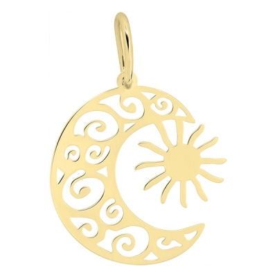 Pandantiv aur soarele si luna