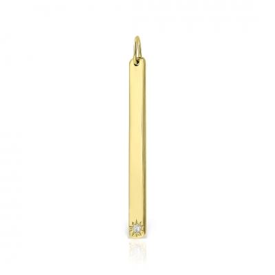 Pandantiv aur baguette cu diamant