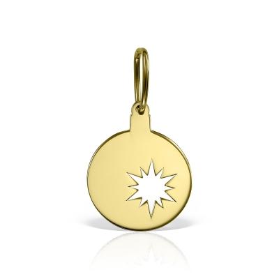 Pandantiv aur banut cu stea traforata