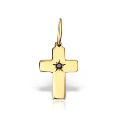 Pandativ aur cruciulita cu diamant negru
