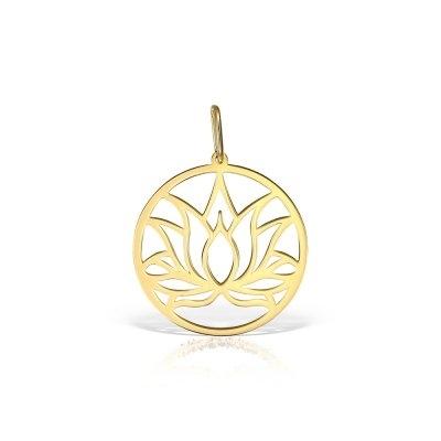 Pandantiv aur Floare de Lotus
